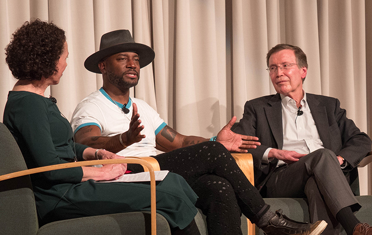 Actor Taye Diggs and Francisco Jimenez discuss children's literature