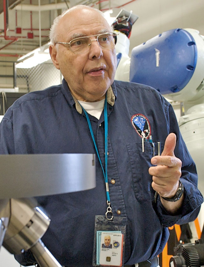 Frank Cepollina at work at NASA's Goddard Space Flight Center in Maryland.