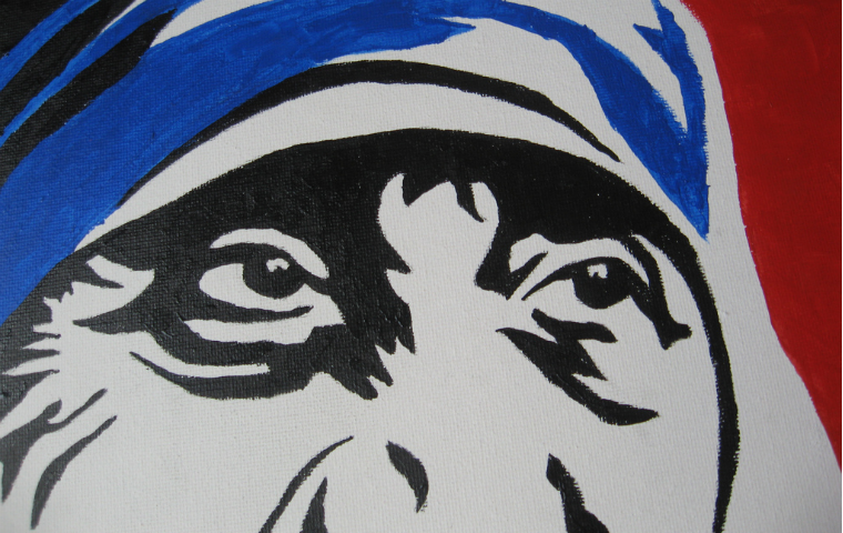 A print of Mother Teresa's eyes image link to story