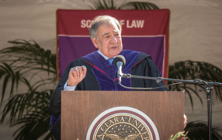 Panetta at 2017 SCU Law commencement