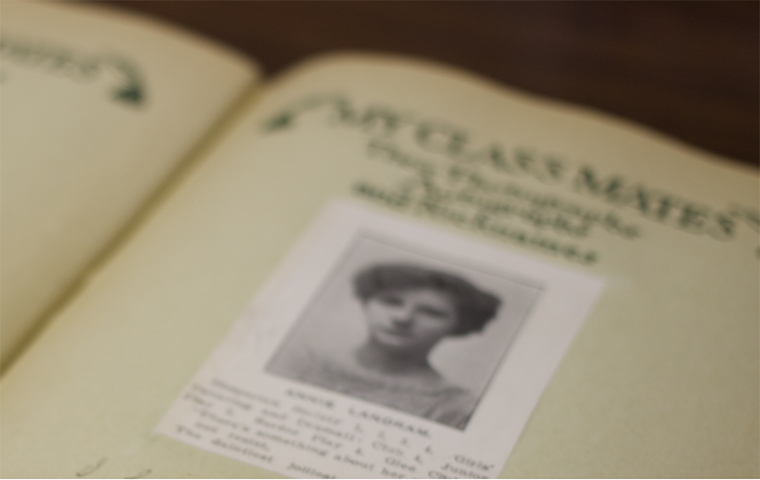 Picture of an open historical yearbook image link to article