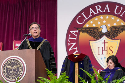President Kevin O'Brien speaks at his inauguration
