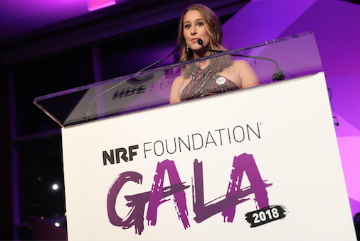 Marlowe Camblin attending NRF Gala 2018 as a Next Generation finalist. image link to story
