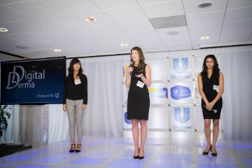 SCU team Digital Derma presenting at the Unilever Business Case Competition, U.S. nationals.