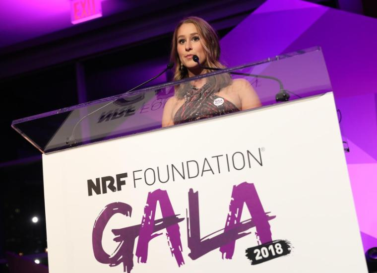 Marlowe Camblin at the NRF Gala where she received a scholarship.
