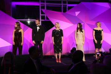 The top 5 scholarship recipients at the NRF Gala in NYC.