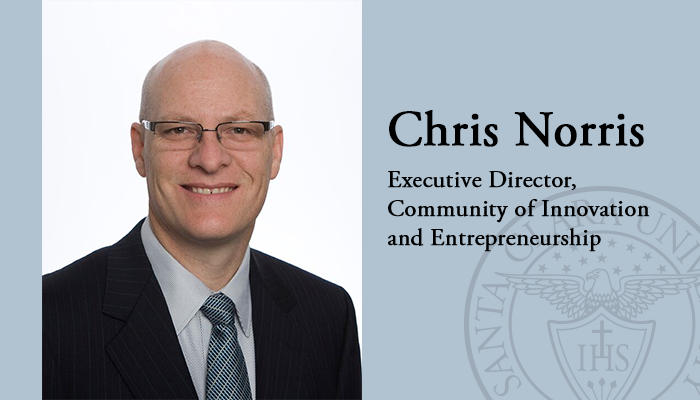 Chris Norris, Executive Director of the Community of Innovation and Entrepreneurship