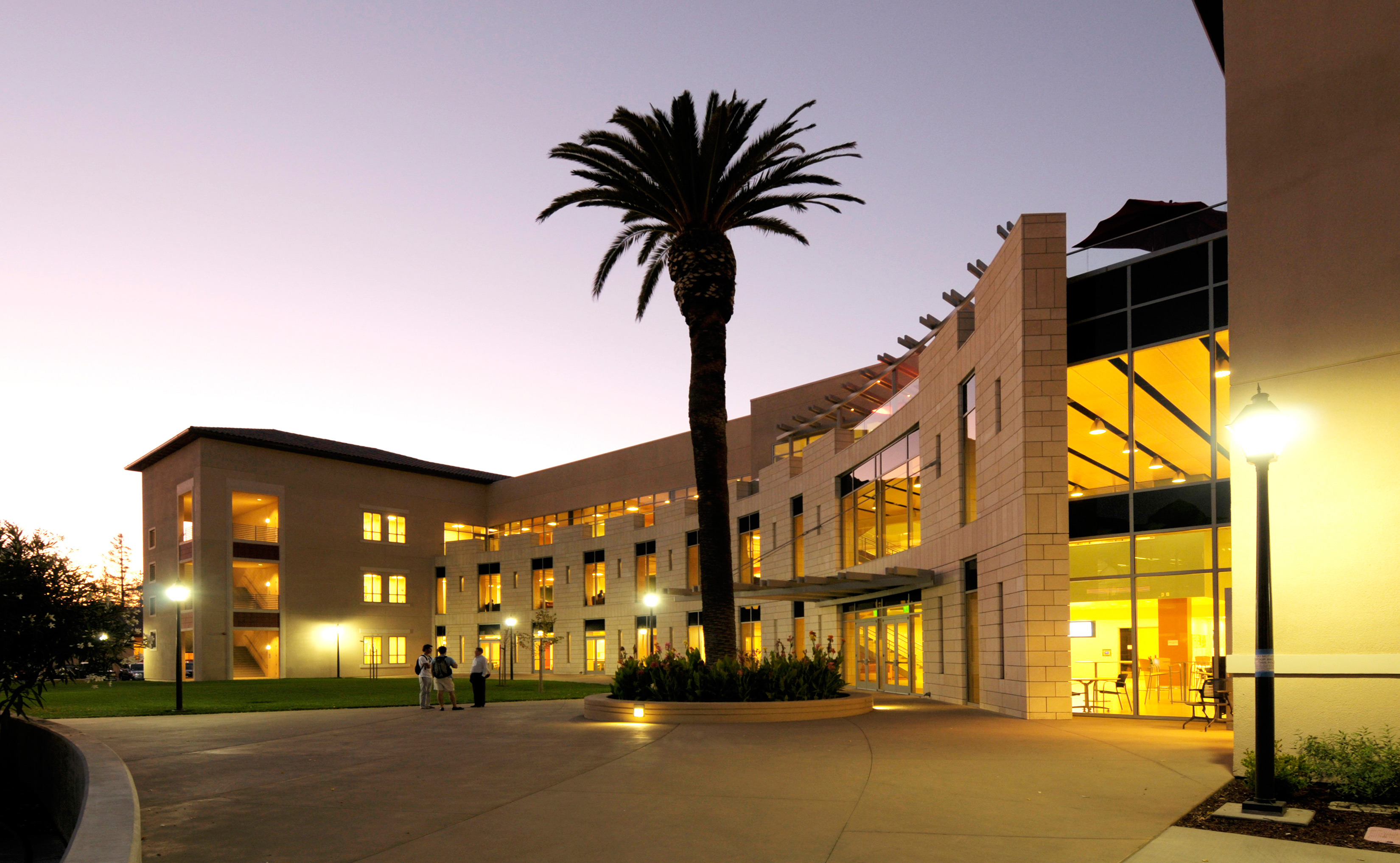 Lucas Hall at night