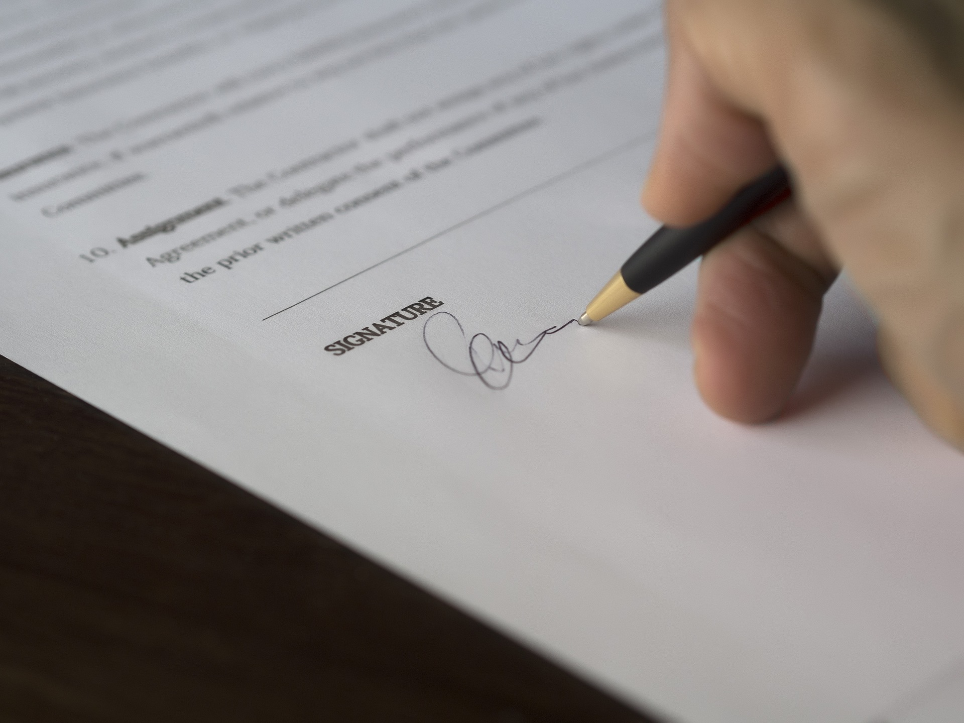 A contract that is in the process of being signed