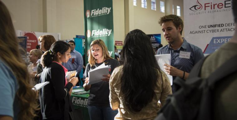 Students explore job and internship opportunities at the Fall Career Fair
