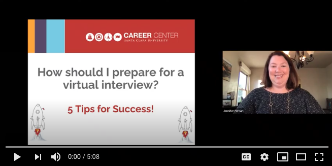 Episode 1 - Virtual Interviewing: Tips for Success image cap