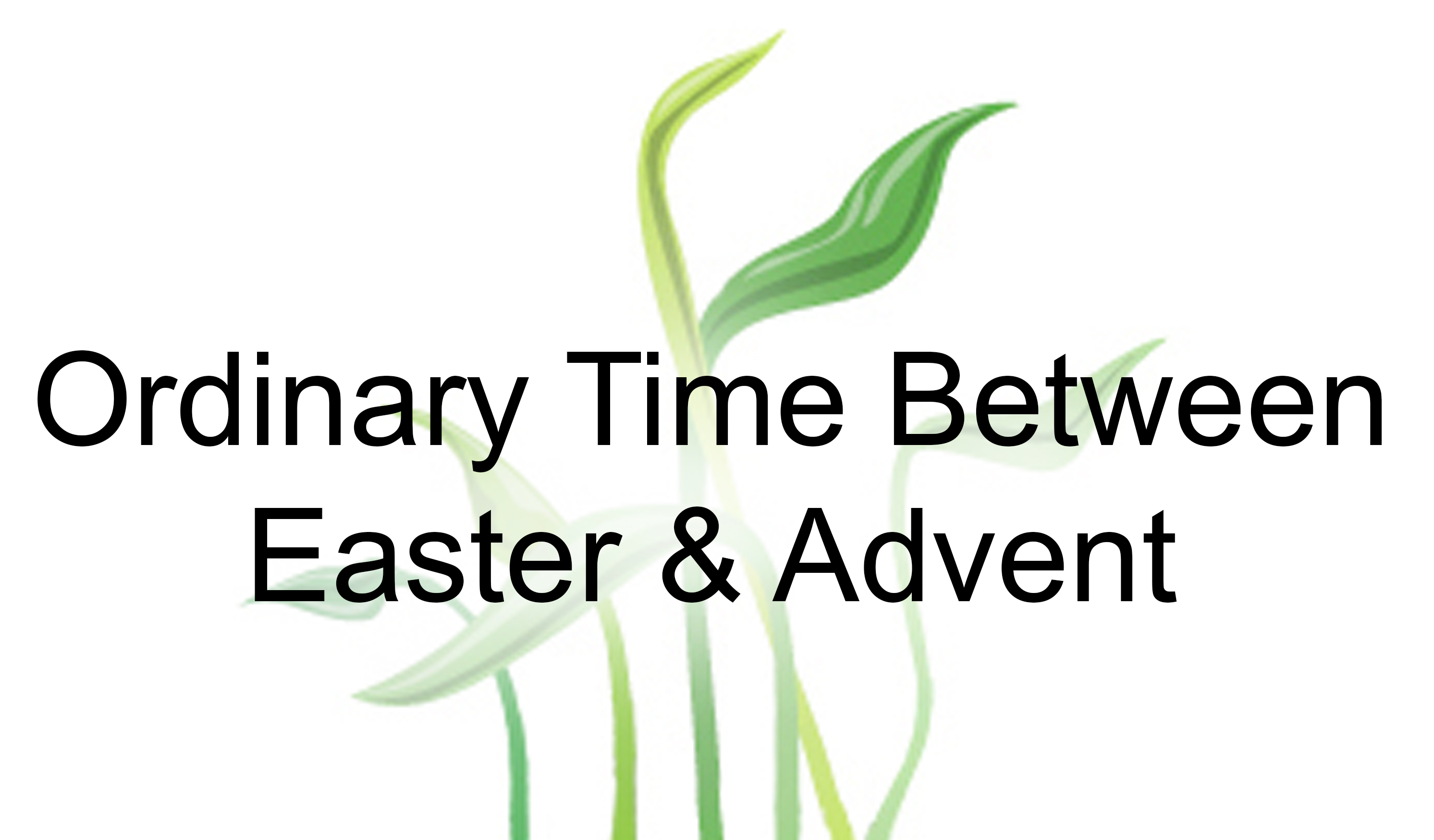 ordinary time easter advent -