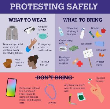 Image of suggestions for Protesting Safely