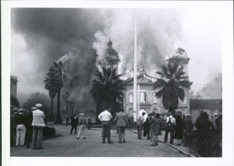 Fire in Mission Church - October 25, 1926