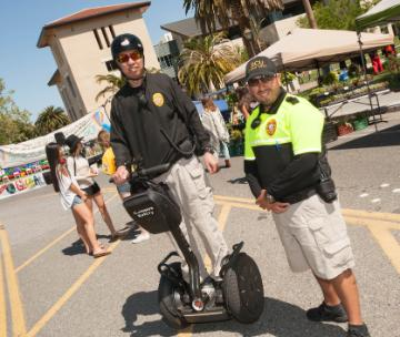 Campus Safety officers during Global Village.