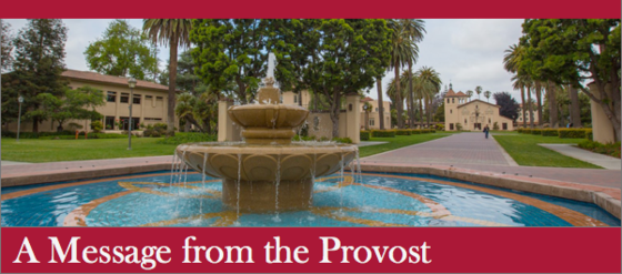 Provost's Update Banner with Fountain 560px