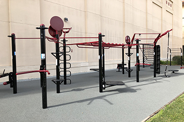 image of outdoor fitness area