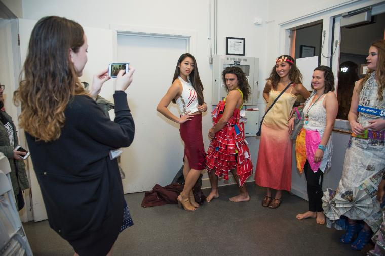 Eco-Fashion Show 2016 models backstage posing