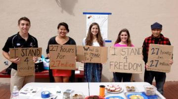 Tabling to reduce human trafficking image link to story
