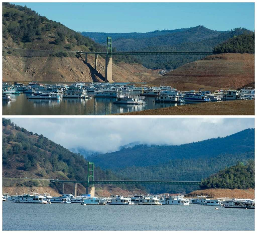Comparison of Lake Oroville (reservoir) in 2017, Take Action article