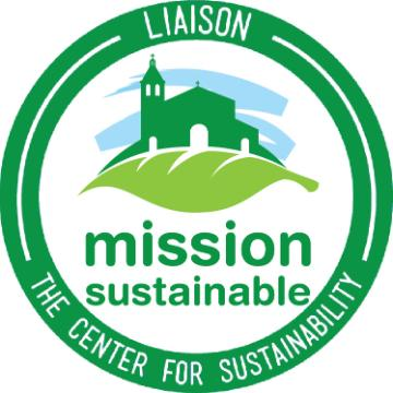 Liaison, the Center for Sustainability. Mission Sustainable logo in tri-color