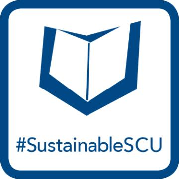 Blue Academics Badge - Book Icon #SustainableSCU