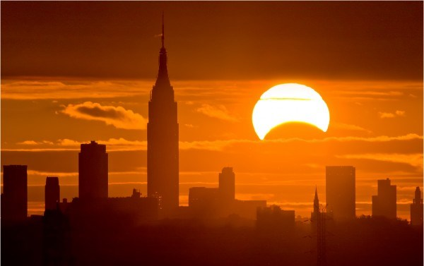 Partial eclipse over New York, Nov. 3, 2013, captured by Chris Cook Photography