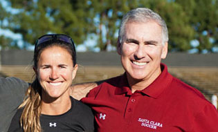 Jerry Smith with Brandi Chastain '91
