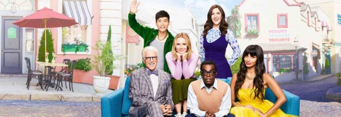 A photo of the case from The Good Place