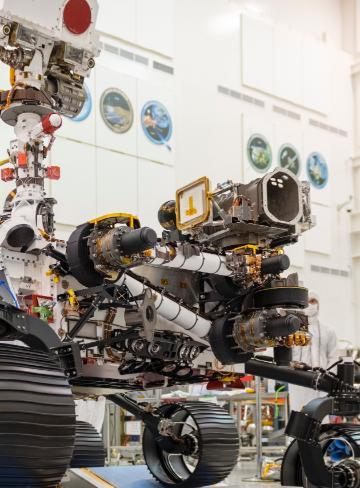 A NASA photograph of the Mars Rover