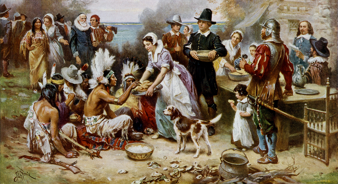 Painting of the first Thanksgiving