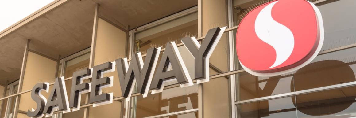 Photo of a Safeway store sign
