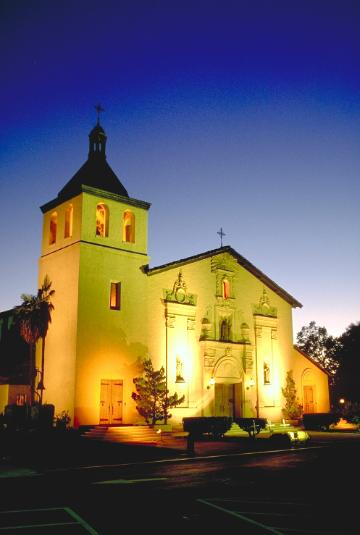 Mission Church at Night