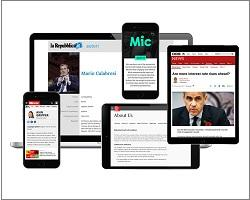 Sampling of tablets and smart phones with news stories displayed on screens.