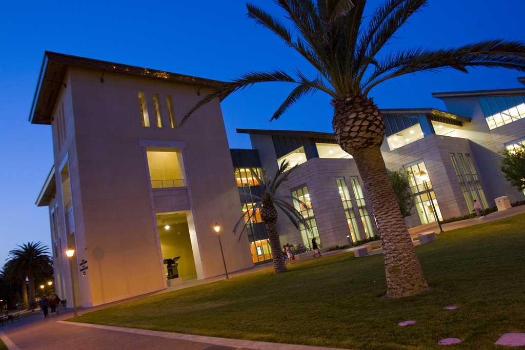 Learning Commons, evening view