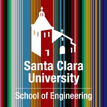 School of Engineering Logo in front of a latin serape design.