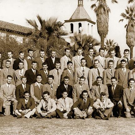 Engineering students photographed in 1948.