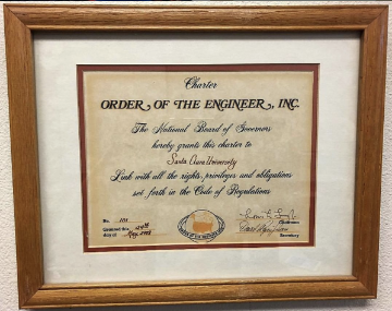 Order of the Engineer Link 101 Certificate from 1988