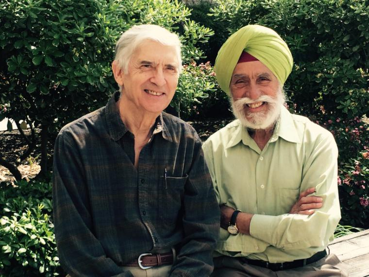 From left: John Finnemore and Sukhmander Singh image link to story