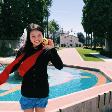 Grace Ling on SCU campus