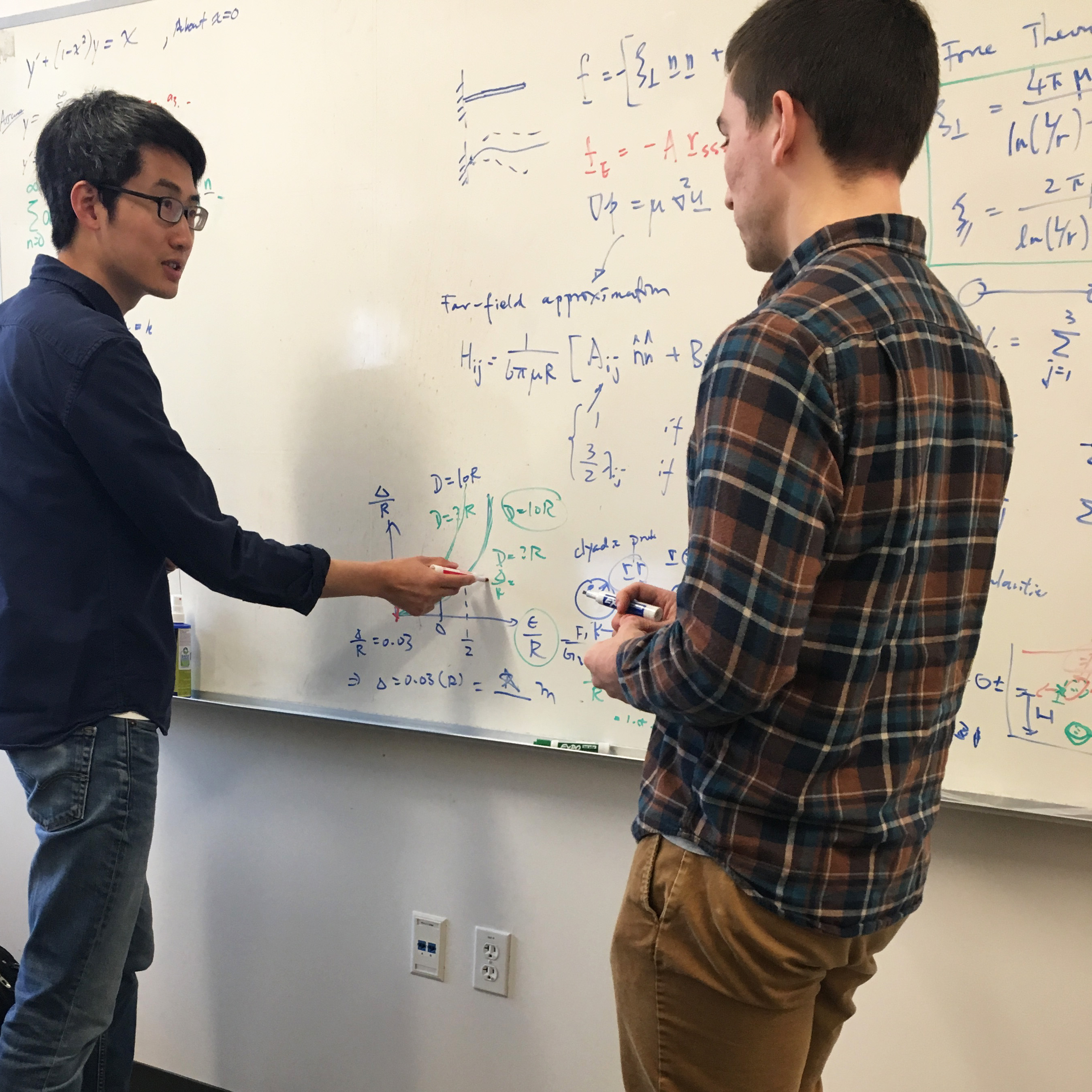 On Shun Pak and graduate student Grant Mishler '18 image link to story