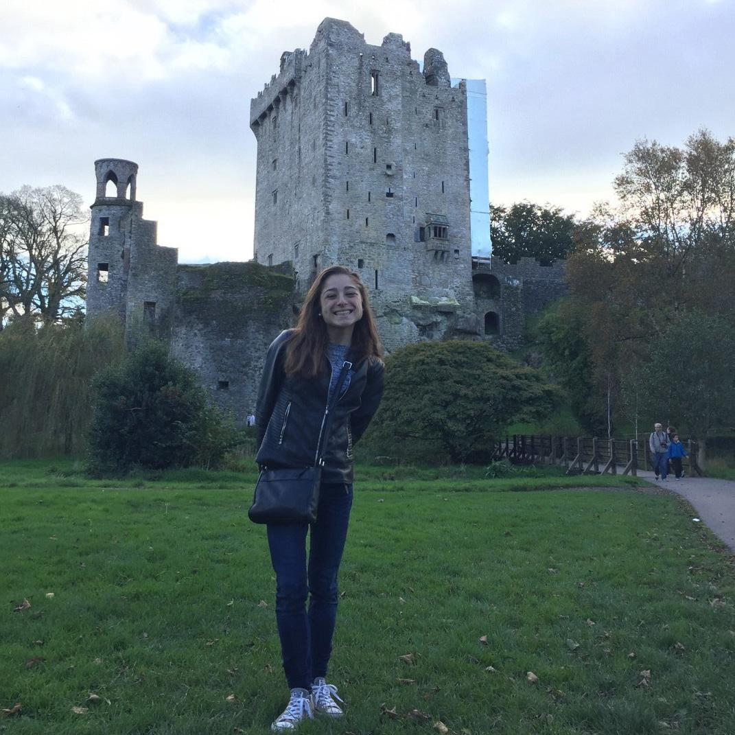 Ashton Politz '19 at Blarney Castle, Ireland image link to story