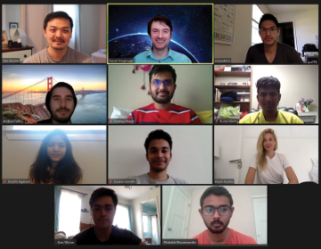 Students, faculty, and Aromyx partners meet on Zoom