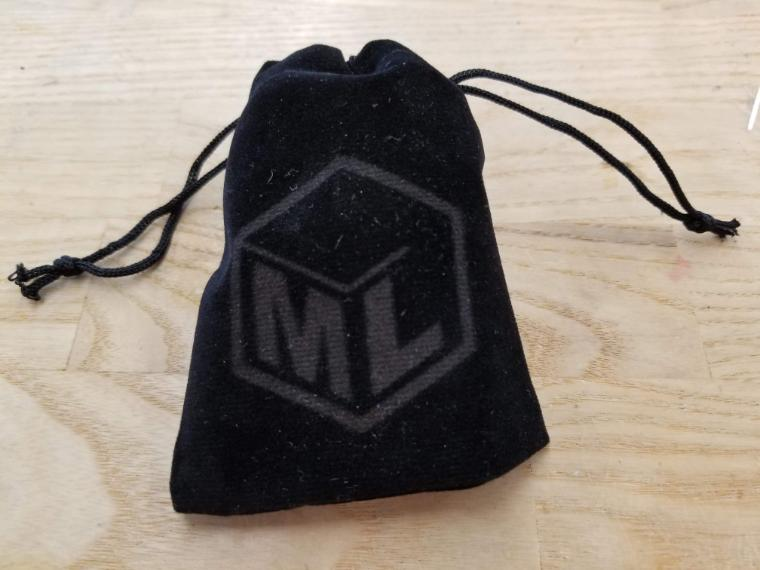 Engraved drawstring pouch