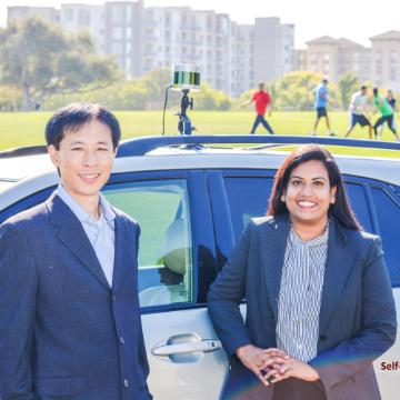 Apollo AI co-founders Koji Seto, Ph.D. '14 and Annapurna Yarlagadda, MBA '16 image link to story
