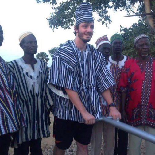 Nathan Rogers helps bring sustainable building practices to a small village in Ghana.