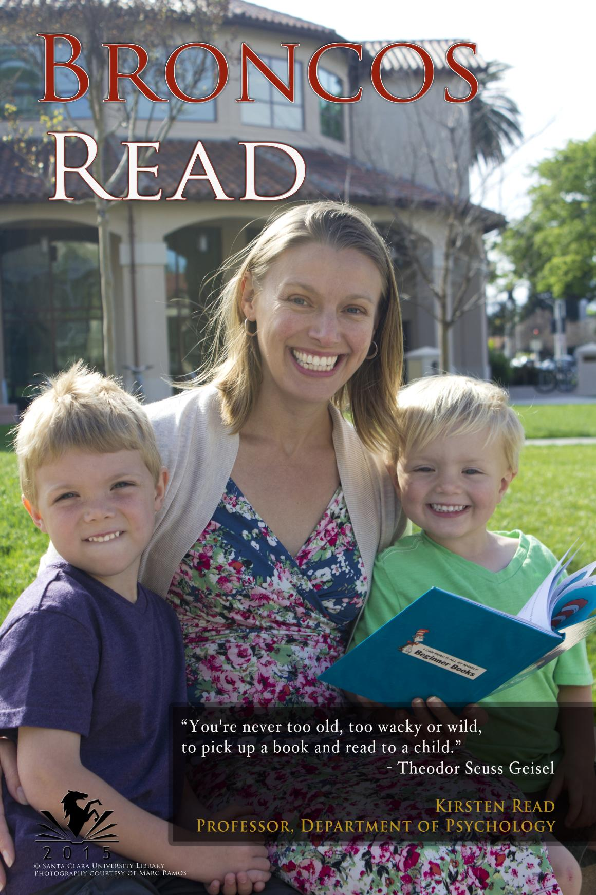 2015 Broncos Read Faculty Honoree - Dr. Kirsten Read