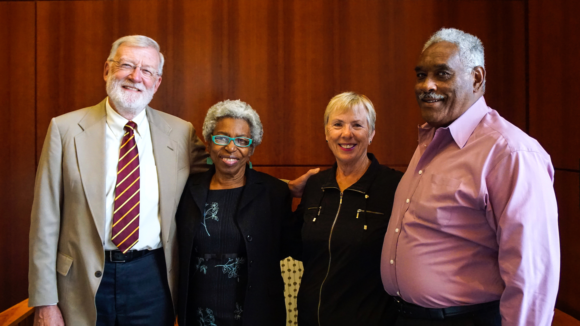 Wayne Wiegand, Geraldine Edwards Hollis, Shirley Wiegand, and Jack Hollis 
